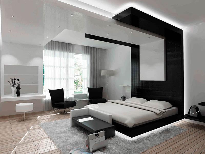 Дизайн интерьер спальны