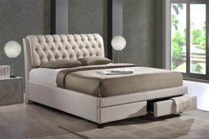 Кровать с выдвижными бельевыми ящиками