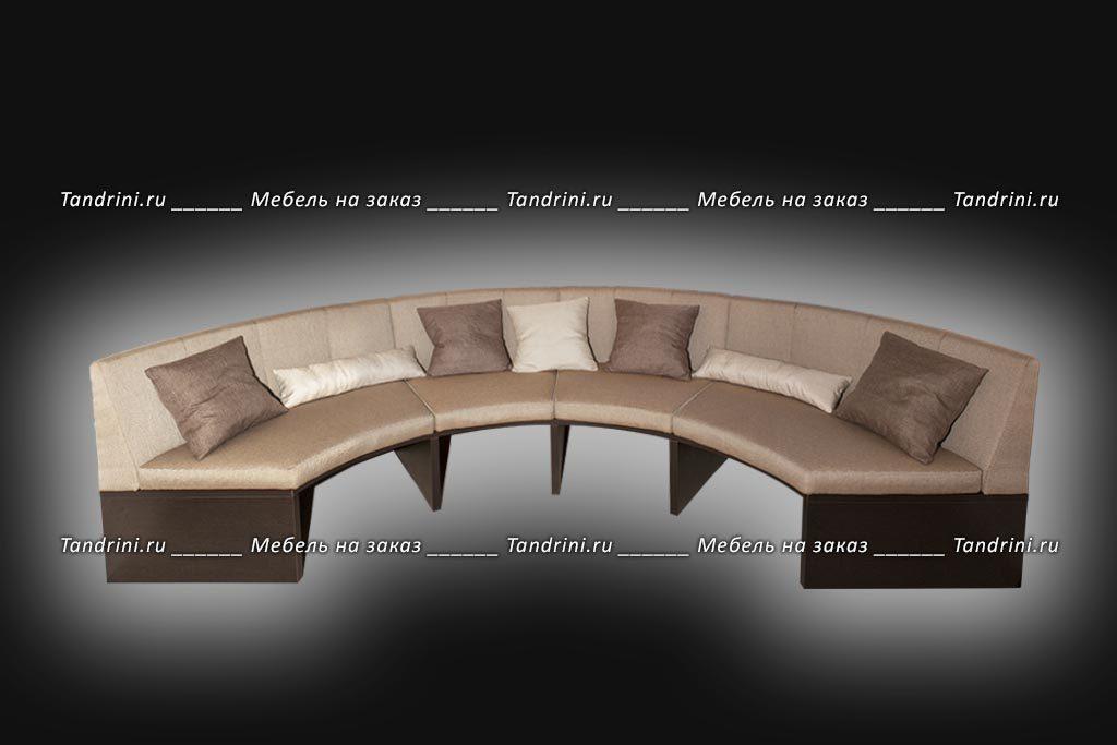 Круглый диван эркерный