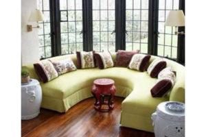 Полукруглый диван эркерный