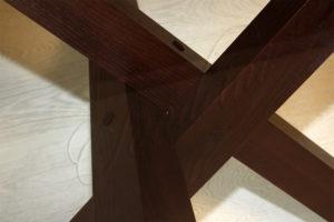 Дизайнерский стол, деревянное основание
