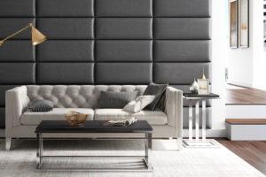 Мягкие стеновые панели для гостиной