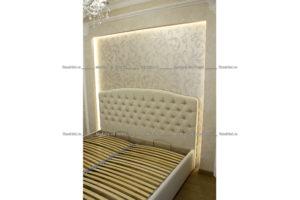 Кровать с изголовьем каретная стяжка (капитоне)